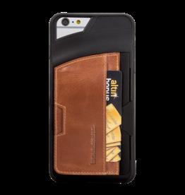 Bouletta Bouletta - iPhone 6(S) Plus Elastic BackCover met vakje (Rustic Cognac)