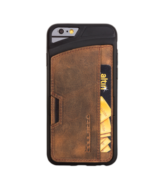 Bouletta Bouletta - iPhone 6(S) Plus Elastic BackCover met vakje (Antic Coffee)