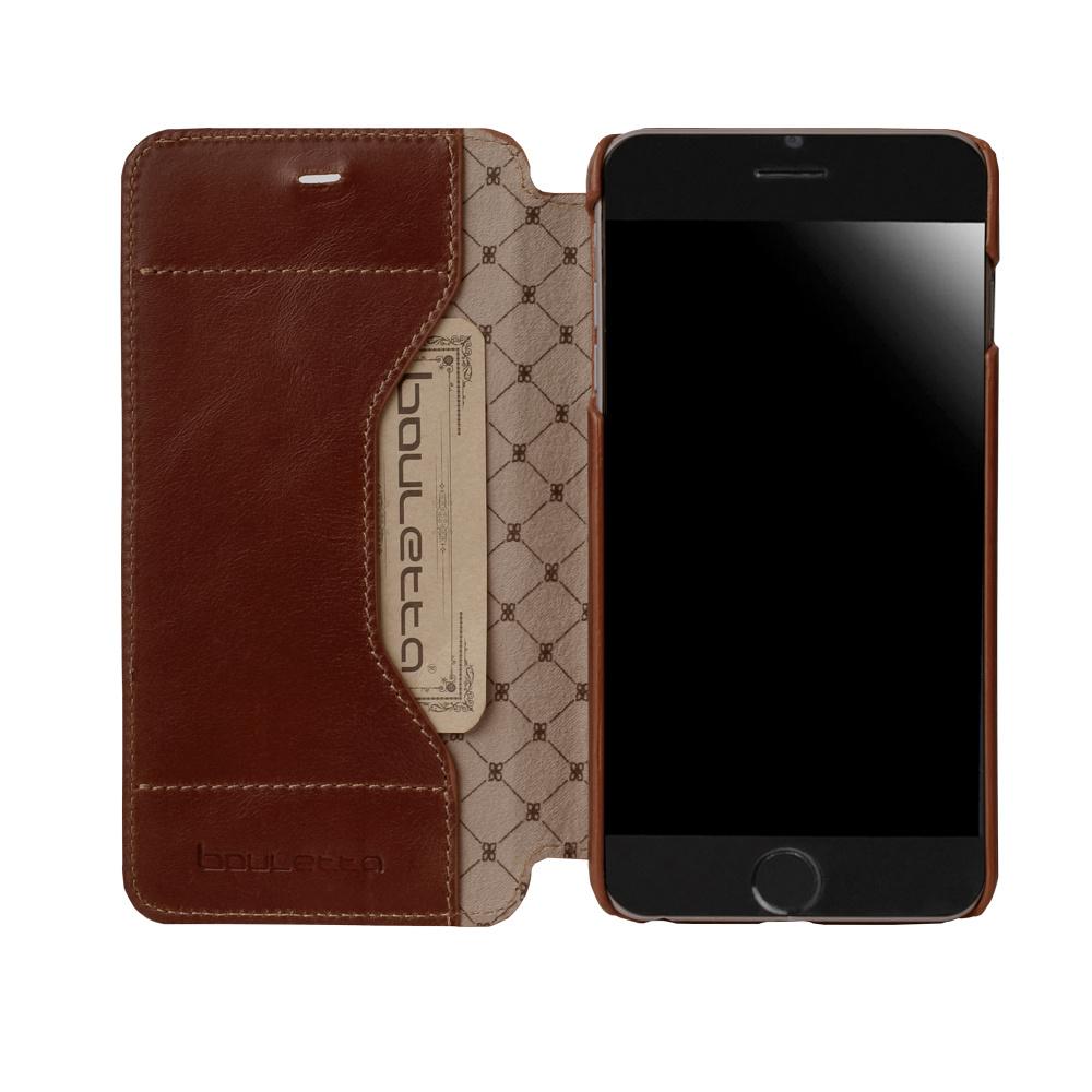 Bouletta Bouletta - iPhone 6(S) Plus Simple BookCase 'Rustic Brown'