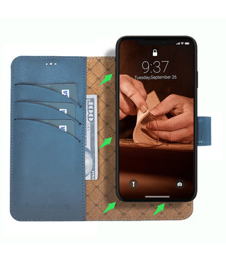 Bouletta Bouletta - iPhone 11 Pro Max 2-in-1 Afneembare BookCase (Midnight Blue)