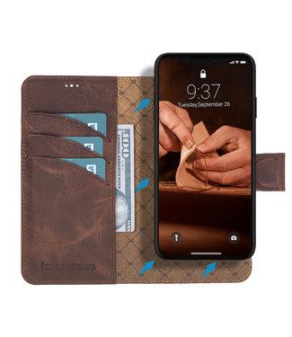 Bouletta Bouletta - iPhone 11 - 2-in-1 Abnehmbar BookCase (Antic Coffee)