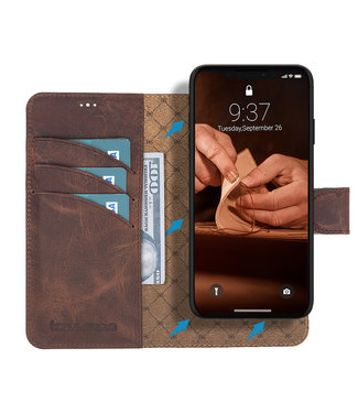 Bouletta Bouletta - iPhone 11 - 2-in-1 Detachable WalletCase (Antic Coffee)
