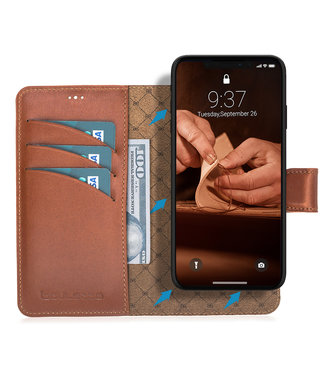 Bouletta Bouletta - iPhone 11 - 2-in-1 Detachable WalletCase (Burned Cognac)