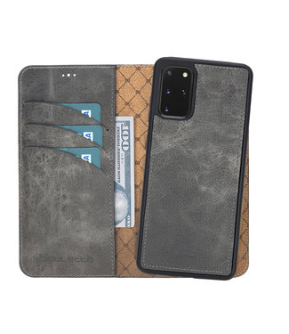 Bouletta Samsung Galaxy S20 Plus - Afneembare  2-in-1 BookCase - Marble Grey