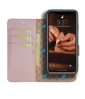 Bouletta Bouletta - iPhone 11 - 2-in-1 Afneembare BookCase - Nude Pink