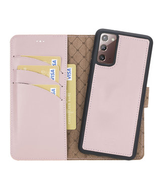 Bouletta Samsung Galaxy Note20 - Afneembare  2-in-1 BookCase - Nude Pink