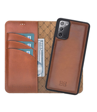Bouletta Samsung Galaxy Note20 - Afneembare  2-in-1 BookCase - Burned Cognac