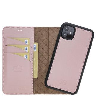 Bouletta Bouletta - iPhone 12 - 2-in-1 Afneembare BookCase - Nude Pink