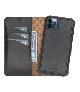 Bouletta Bouletta - iPhone 12 Pro - Uitneembare BookCase - Rustic Black