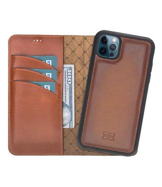 Bouletta Bouletta - iPhone 12 Pro - Uitneembare BookCase - Burned Cognac