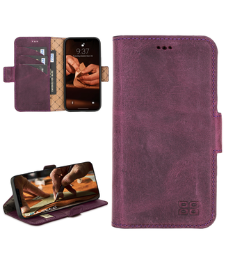 Bouletta Bouletta - iPhone 12 - BookCase (Antique Purple)