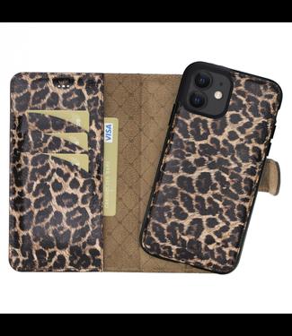 Bouletta Bouletta - iPhone 12 - 2-in-1 Afneembare BookCase - Smooth Leopard