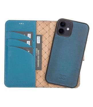 Bouletta Bouletta - iPhone 12 - 2-in-1 Afneembare BookCase - Midnight Blue