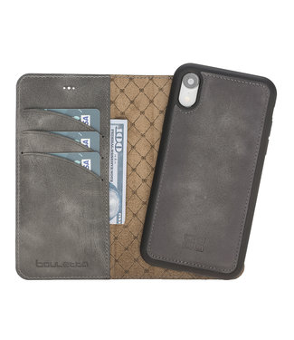 Bouletta iPhone Xs - Marble Grey - Uitneembare BookCase