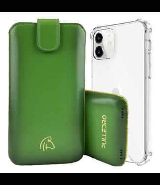 Pulledro Pulledro - iPhone 13 (Pro) - Leder Pouch & BackCover - Ɠold Ɠreen
