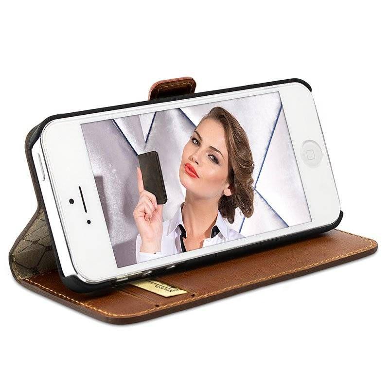 Bouletta Bouletta - iPhone 5(S) & SE WalletCase (Rustic Cognac)