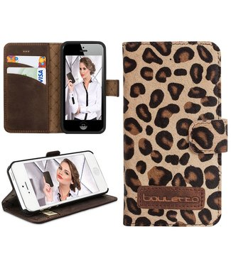 Bouletta Bouletta - iPhone 5(S) & SE WalletCase (Leopard)
