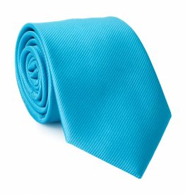 Stropdas aqua-blauw, zijde