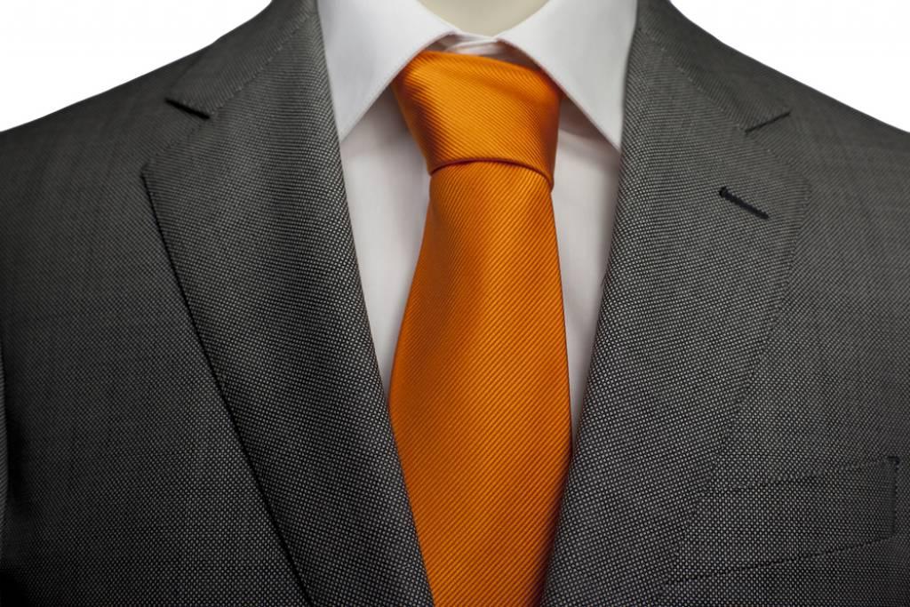 Oranje stropdas, zijde