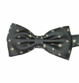 Feeststrik zwart met gouden sterren