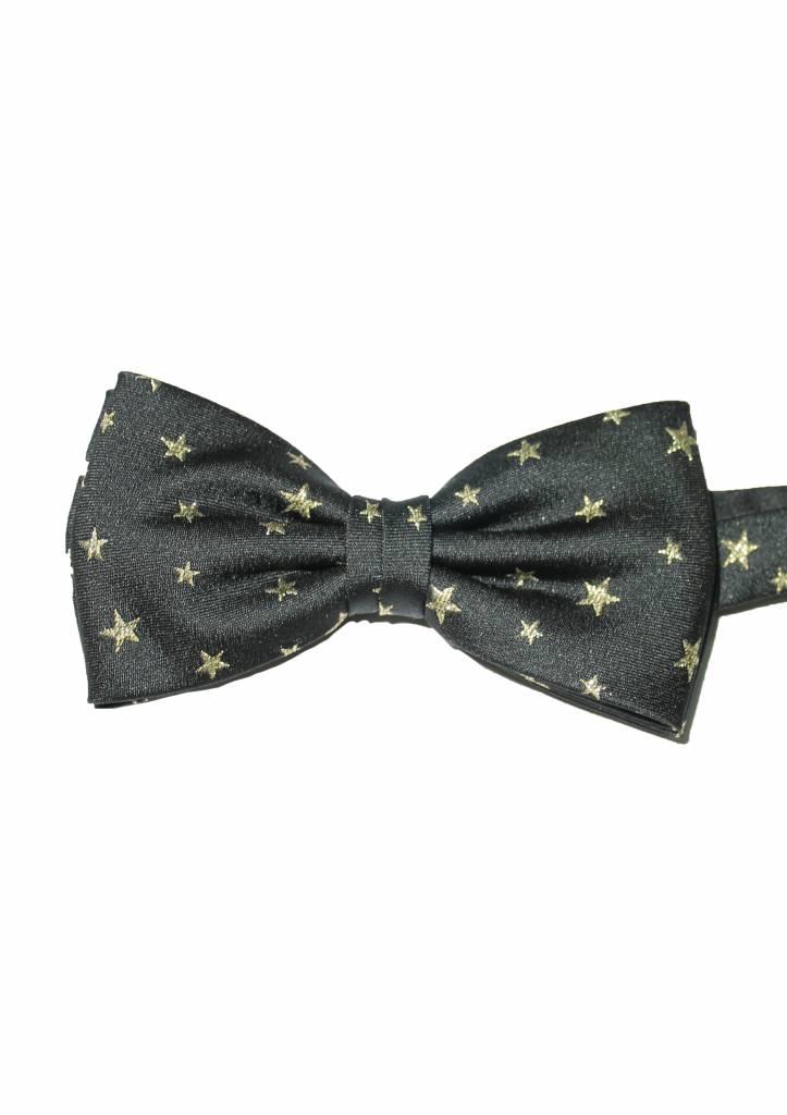 Feestelijke zwarte strik met gouden sterren