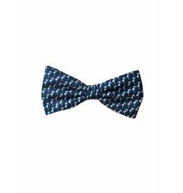 Hippe strik, blauw, met zonnebrilletjes