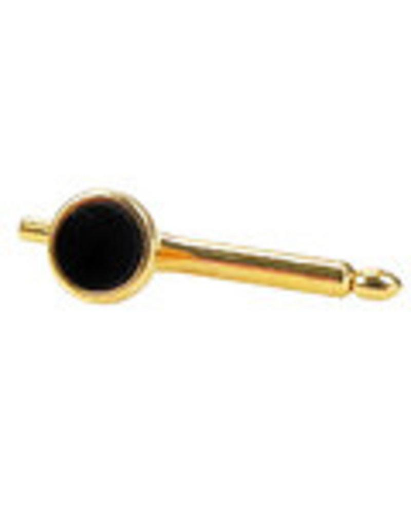 Frontknoop/ Dress Stud  zwart-goud