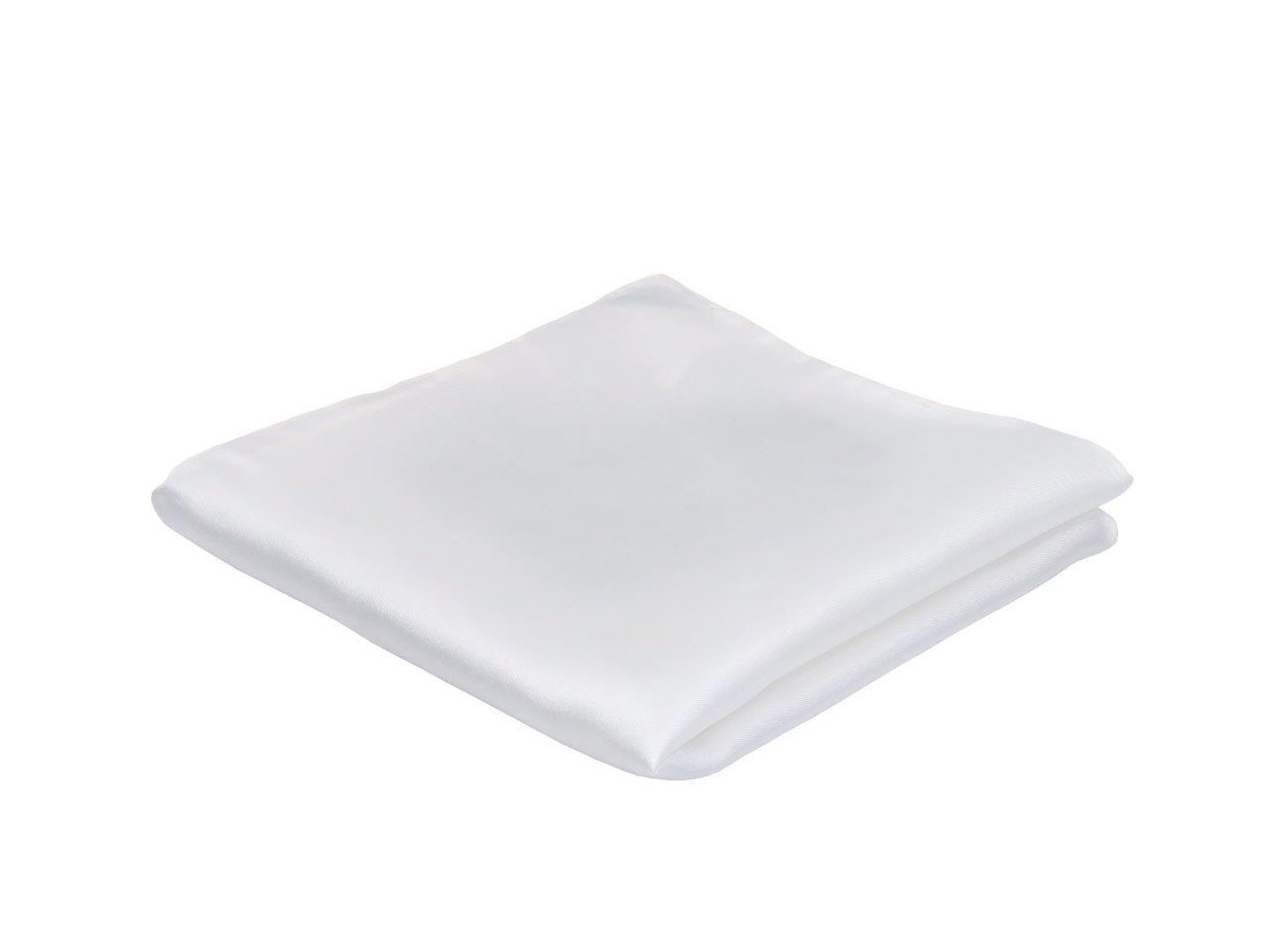 Pochet, wit,  gemaakt van 100% zuiver zijde