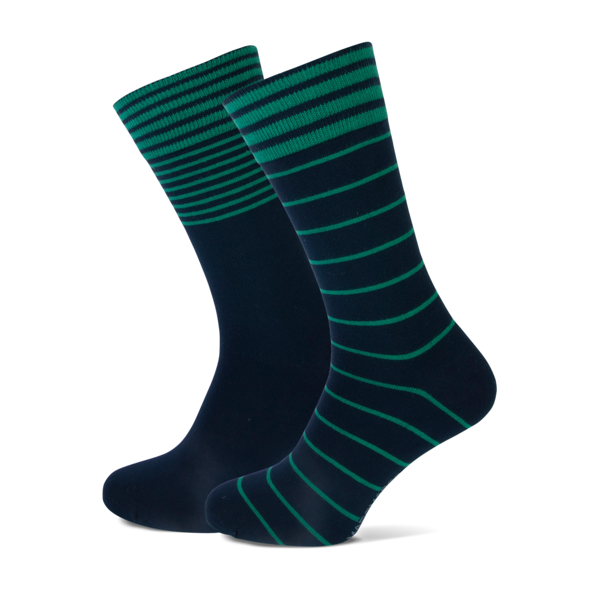 Sok, 2- pack, blauw/groen gestreept