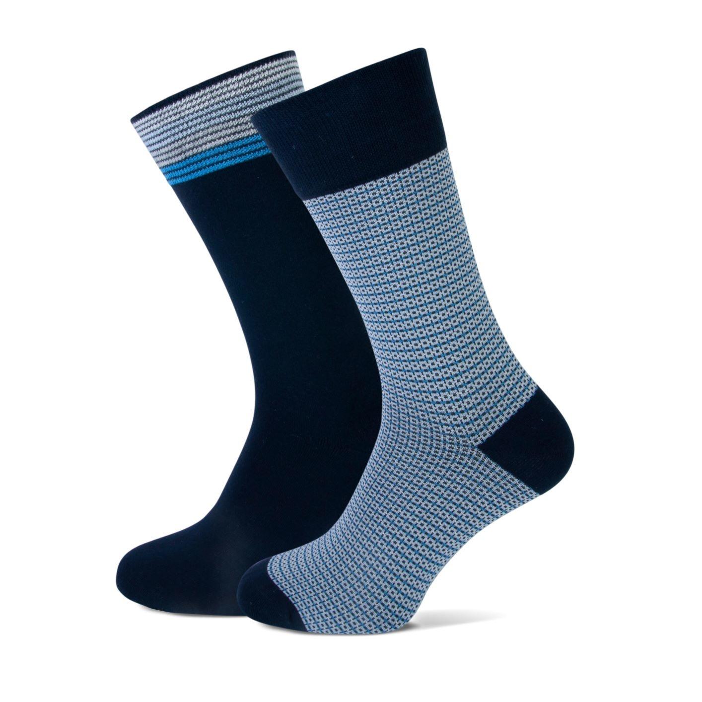 Sok, 2- pack, marine/licht blauw