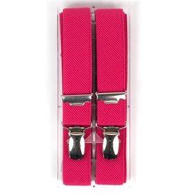 Bretels, fuchsia roze, smal (24mm)