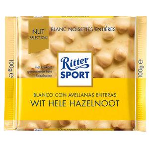 Rittersport 100gr wit hele hazelnoot