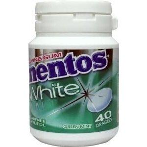 Mentos pot 6x60gr white greenmint 40st