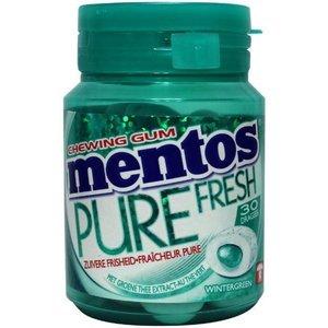 Mentos pot 6x60gr pure fresh wintergreen 30st