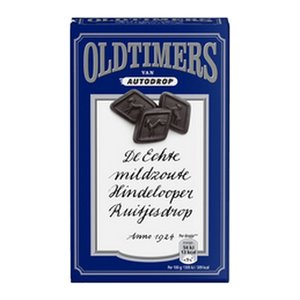 Oldtimers x6 ruitjesdrop (blauw)