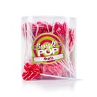 Swigle pop mini 50x12gr 4cm hartjes rood-wit