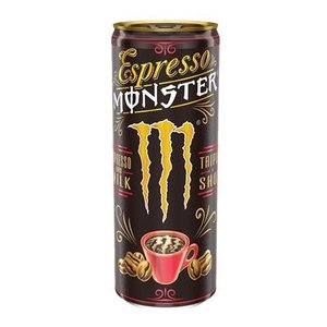 Monster 12x25cl espresso milk (rood)