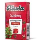 Ricola doosje cranberry suikervrij x20