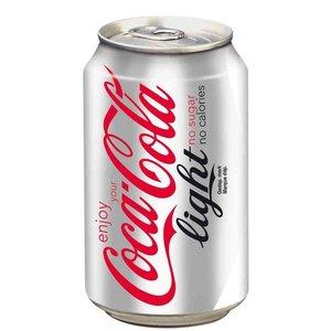 Deense Coca cola blik 24x33cl light