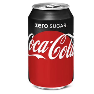 Deense Coca cola blik 24x33cl zero