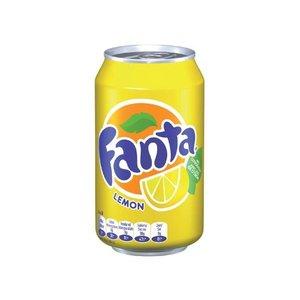 Deense Fanta blik 24x33cl lemon