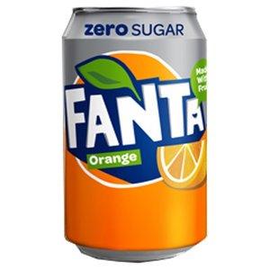 Deense Fanta blik 24x33cl orange zero