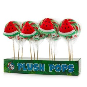Kermis lolly plush watermeloen 12x110gr