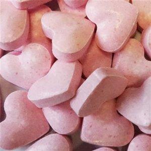 Geboorte 1kg dextrose hartjes roze 2gr