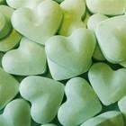 Love 1kg dextrose hartjes groen 2gr