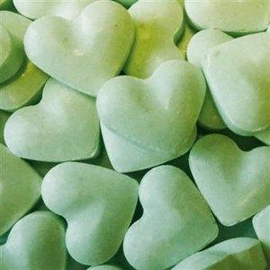 Geboorte 1kg dextrose hartjes groen 2gr
