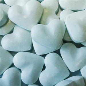 Love 1kg dextrose hartjes blauw 2gr
