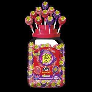 Lolly x100 Pin pop 17gr mix assorti