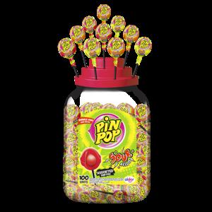 Lolly x100 Pin pop 17gr sour mix