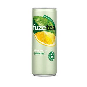 Fuze tea blik 24x25cl green
